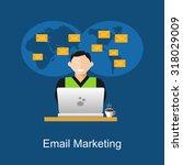email marketing illustration.... | Shutterstock .eps vector #318029009