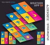 vector weather app for iphon ...