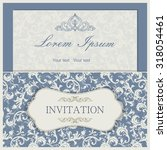 vintage invitation card with... | Shutterstock .eps vector #318054461