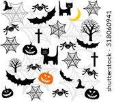 halloween seamless background... | Shutterstock . vector #318060941