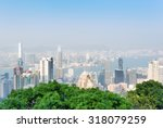 beautiful view of hong kong... | Shutterstock . vector #318079259