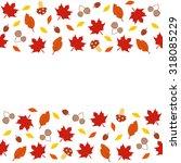 autumn leaves pattern | Shutterstock .eps vector #318085229