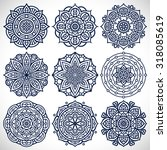 mandalas. vintage decorative... | Shutterstock .eps vector #318085619