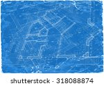 architecture blueprint   3d... | Shutterstock .eps vector #318088874