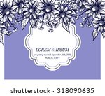 wedding invitation cards with... | Shutterstock .eps vector #318090635