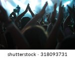 clapping crowd at the concert ... | Shutterstock . vector #318093731