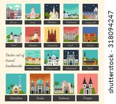 vector color big flat set of... | Shutterstock .eps vector #318094247