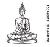 buddha statue vector... | Shutterstock .eps vector #318096701