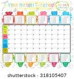 calendar and school timetable... | Shutterstock .eps vector #318105407
