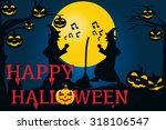 halloween background. vector... | Shutterstock .eps vector #318106547