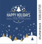 merry christmas background with ... | Shutterstock .eps vector #318110735