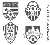 set of vintage soccer football... | Shutterstock .eps vector #318115199
