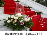 Wedding Red Carpet With White...