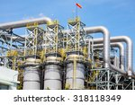 petrochemical plant in... | Shutterstock . vector #318118349