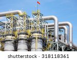 petrochemical plant in... | Shutterstock . vector #318118361