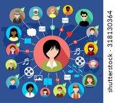 social network. concept. raster ... | Shutterstock . vector #318130364