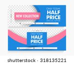 half price sale with special... | Shutterstock .eps vector #318135221