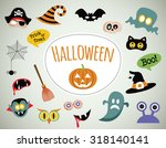 halloween symbols and icons... | Shutterstock .eps vector #318140141