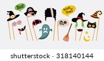 halloween party photo booth... | Shutterstock .eps vector #318140144