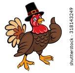 turkey thanksgiving | Shutterstock .eps vector #318143249