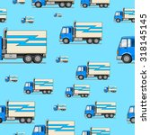 seamless pattern truck raster... | Shutterstock . vector #318145145