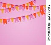 vector of  birthday poster ... | Shutterstock .eps vector #318148481