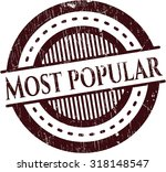 most popular rubber stamp | Shutterstock .eps vector #318148547