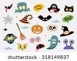 halloween icons | Shutterstock .eps vector #318149837