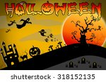 halloween design background... | Shutterstock . vector #318152135