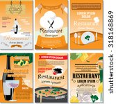 restaurant poster design set  ... | Shutterstock .eps vector #318168869