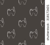 seamless  black halloween...   Shutterstock .eps vector #318172601