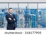 smiling handsome businessman... | Shutterstock . vector #318177905