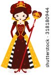 queen of red hearts | Shutterstock .eps vector #318180944