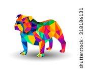 bulldog english dog breed... | Shutterstock .eps vector #318186131