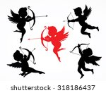 silhouette cupids   illustration | Shutterstock .eps vector #318186437