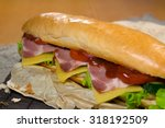 huge sandwich stuffed with... | Shutterstock . vector #318192509