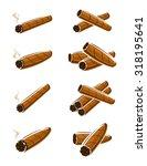cigars set. vector   Shutterstock .eps vector #318195641