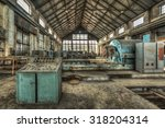 Turbine Hall In An Abandoned...