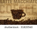 coffee collage with text | Shutterstock . vector #31820560