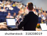 speaker at business conference... | Shutterstock . vector #318208019