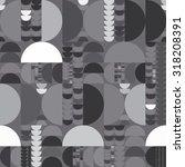 vector seamless abstract black... | Shutterstock .eps vector #318208391