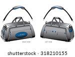 duffle bag blue design | Shutterstock .eps vector #318210155