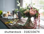 florist workplace  flowers and... | Shutterstock . vector #318210674