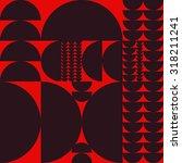 vector seamless abstract... | Shutterstock .eps vector #318211241