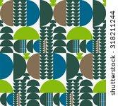 vector seamless abstract... | Shutterstock .eps vector #318211244