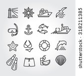 marine icon  logo  logotype  ... | Shutterstock .eps vector #318211385