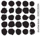 round vector ink  watercolor... | Shutterstock .eps vector #318215354