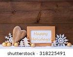 golden christmas decoration on...   Shutterstock . vector #318225491