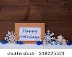 blue christmas decoration on...   Shutterstock . vector #318225521