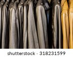 collection of leather jackets... | Shutterstock . vector #318231599